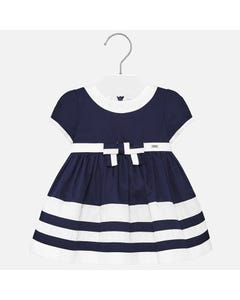 DRESS NAVY WHITE STRIPE TRIM