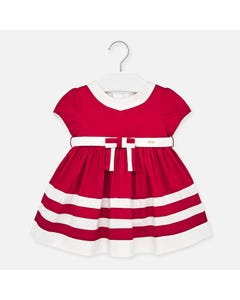 DRESS RED WHITE STRIPE