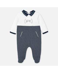 SLEEPER WHITE & NAVY NAUTICAL PRINT DRESSY