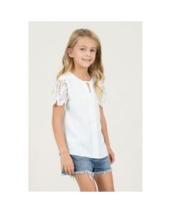BLOUSE WHITE LACE SLEEVE