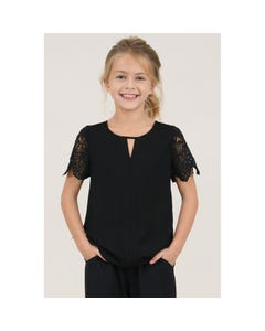 BLOUSE BLACK LACE SLEEVE