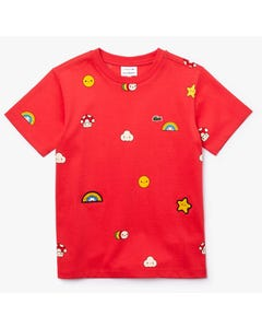 TSHIRT RED SHORT SLEEVE STAR PRINT LIMITED EDITION