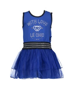 DRESS ROYAL BLUE WITH LOVE TULLE SKIRT