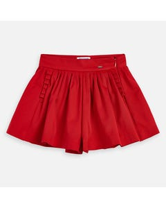 Mayoral Girls Skort Red Pleated With Pockets Size 2-9 | Girls Skirts Set 3907 Red