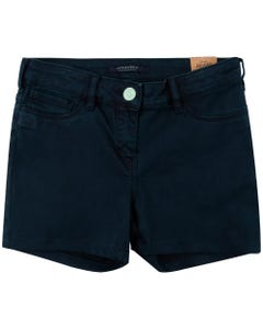 SHORT NAVY STRETCH SATEEN