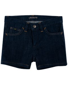 SHORT DENIM YELLOW STITCH DARK BLUE RINSE