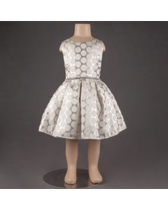 DRESS SILVER & IVORY DOT RSTONE BELT & PLEATS