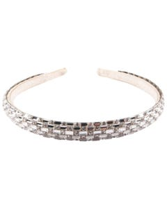 HEADBAND SILVER JEWELLED & RSTONES