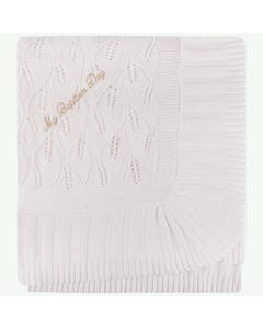 MBD BLANKET GOLD WRITING COTTON