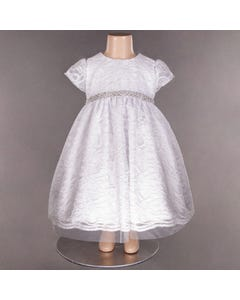 DRESS 325 CAP SLV WHT LACE ALO