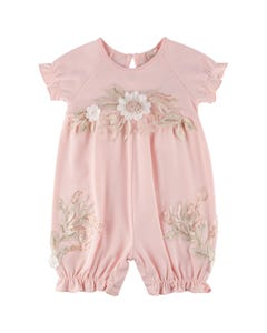 Princess Daliana Girls 2Pc Romper & Headband Set Size 0m-24m | P20242 Pink