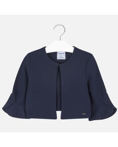 Mayoral Girls Navy Bell Sleeve Cardigan Size 8-18 | 6456 030 Navy