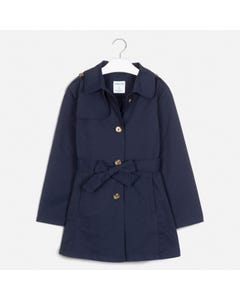 Mayoral Girls Navy Belt Spring Jacket Size 8-18 | 6464 Navy
