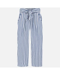 Mayoral Girls Blue And White Linen Pants Size 8-18 | 6534 Blue