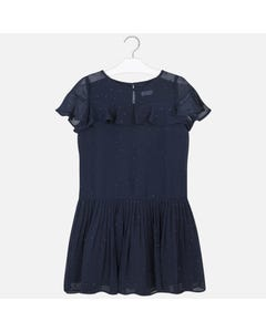 Mayoral Girls Navy Crepe Pleated Skirt Size 8-18 | 6976 Navy