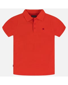 Mayoral Boys Red Short Sleeve Polo Shirt Size 8-18 | 890 045 Red