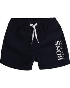 BOSS Boys Navy White Swim Trunk Logo Size 12m-3 | J04368 849 Navy