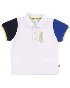 BOSS Boys White Short Sleeve Polo Top Size 12m-3 | J05775 10B White
