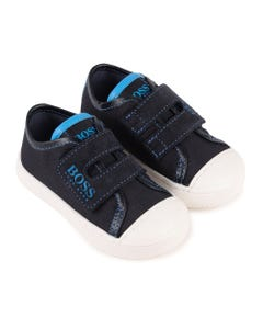 BOSS Boys Navy Velcro Blue Boss Shoes Size 20-29 | J09124 849 Navy