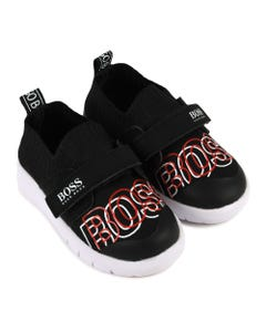 BOSS Boys Red And White Sneakers Size 19-30 | J09128 09B Black