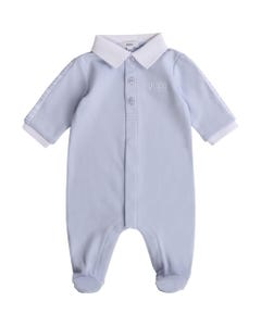 BOSS Boys Blue Sleeper White Collar Size 1m-12m | 97156 Blue