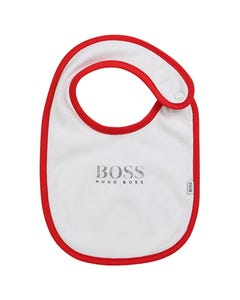 BIB WHITE RED TRIM BOSS LOGO