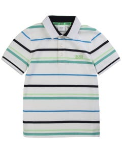 Hugo Boss Boys Polo Top Short Sleeve Size 4-16 | 25 E 87 White