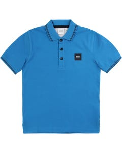 Hugo Boss Boys Polo Top Turquoise Short Sleeve Size 4-16 | 25 E 90 Turquoise