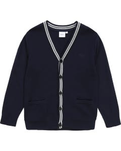 Hugo Boss Boys Navy Grey Knit Cardigan Size 4-16 | 25G03 Navy