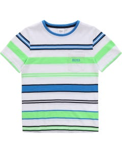 Hugo Boss Boys Striped Short Sleeve T-Shirt Size 4-16 | 25 E 78 Multi