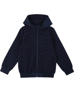 Hugo Boss Boys Navy Reversible Hooded Cardigan Size 4-16 | 25G12 Navy