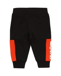 Hugo Boss Boys Black Red Boss Logo Jogging Pants Size 6m-3 | 4366 Black