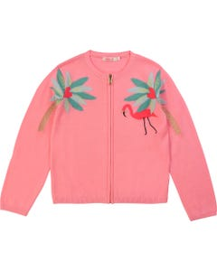 Billieblush Girls Knit Cardigan Zip Closure Size 2-10 | 15700 Pink