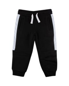 WLKN Boys Sweatpant Black Side Stripe Size 2-14 | 20SP PJ05 Black