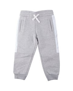 WLKN Boys Sweatpant Grey Heather Side Stripe Size 2-14 | 20SP PJ05 Grey