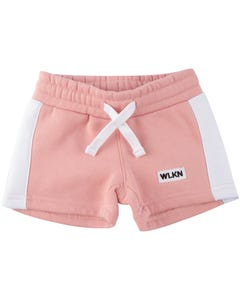WLKN Girls Sweat Shorts Pink Side Stripe Size 2-14 | 20sp wsj02 Pink
