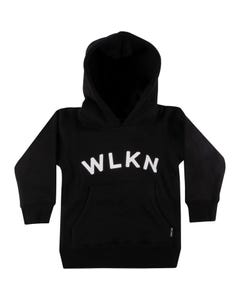 WLKN Girls Black Sweater White Logo Size 2-14 | 20SP HJ02 Black