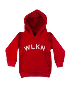 WLKN Girls Red Hoodie White Logo Size 2-14 | 20SP HJ02 Red