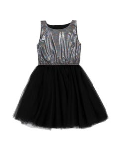 DRESS BLACK SHIMMER BODICE & TULLE SKIRT
