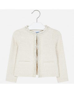 KNIT JACKET BEIGE LURE SILVER TRIM