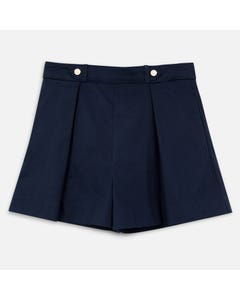 SHORTS NAVY SATIN