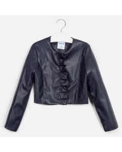 JACKET NAVY LEATHERETTE