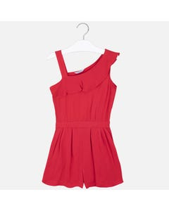JUMPSUIT RED SHORT 1 STRAP