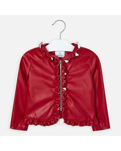 JACKET RED LEATHERETTE
