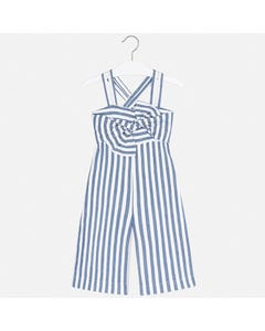JUMPSUIT BLUE & WHITE STRIPE SPAGHETTI STRAPS