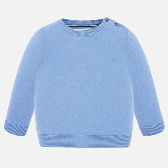 SWEATER BLUE COTTON LONG SLEEVE