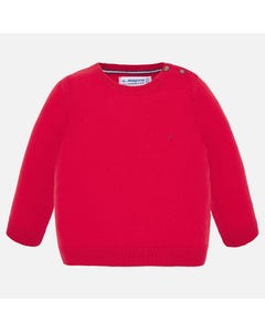 SWEATER RED COTTON LONG SLEEVE