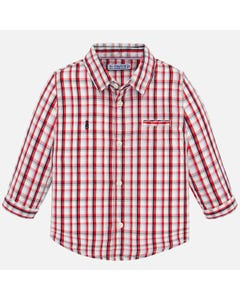 SHIRT RED CHECKED LONG SLEEVE