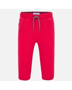 PANT RED TWILL JOGGER