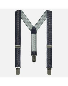 SUSPENDER NAVY & WHITE PRINT